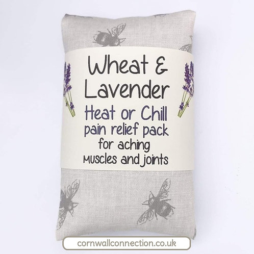 Wheat and Lavender bag - Heat/Chill pack - Healing, Pain relief, Bees - Natural
