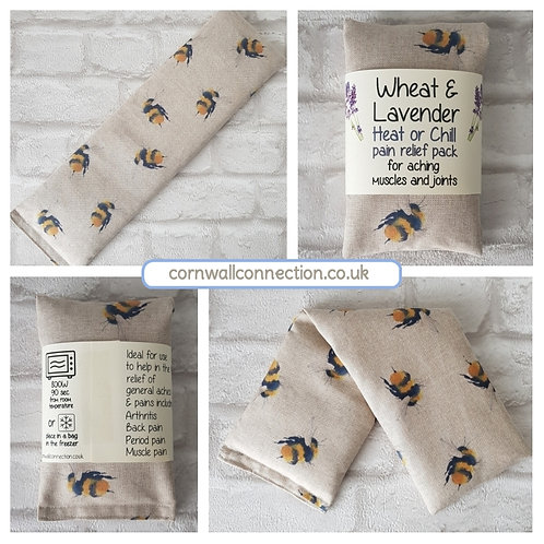 Wheat and Lavender bag - Heat pack/Chill pack - Healing, Pain relief, BIG bees