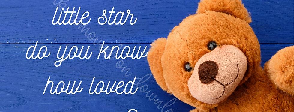 """Twinkle twinkle little star - royal bear - Digital file download - 10"""" x 8"""" JPG"""