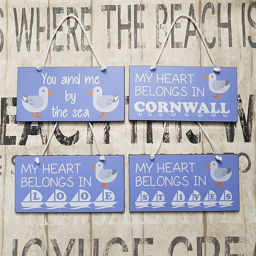 Seagull Seaside Wall Plaques - 4 to choose from