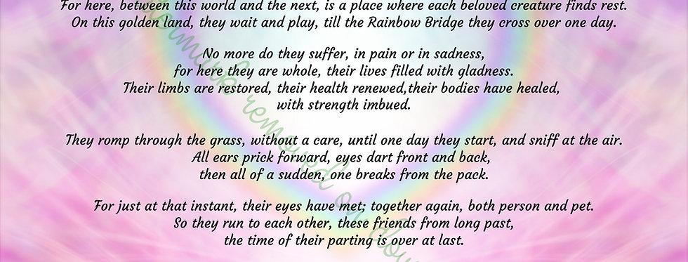 "The Rainbow Bridge poem - Digital file download - 10"" x 8"". JPG"