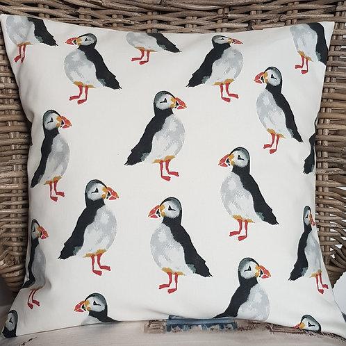 PUFFINS cushion cover - Coastal - Beach -Seaside
