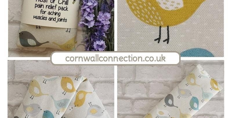 Wheat & Lavender bag - Heat/Chill pack - Healing, Pain relief - Scandi Birds