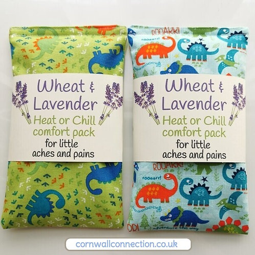 Wheat and Lavender Heat/Chill pack - Dinosaur adventures! Soothing - comforting