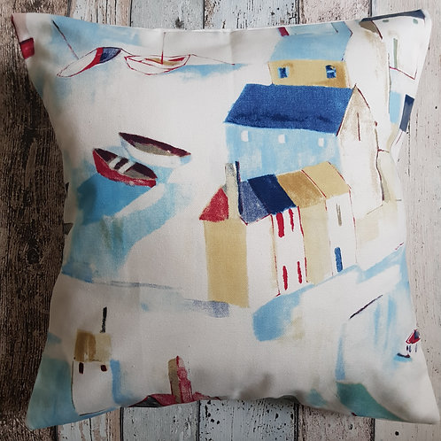 St Ives cobalt cushion cover