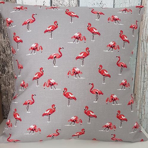 Flamingos cushion cover - linen look