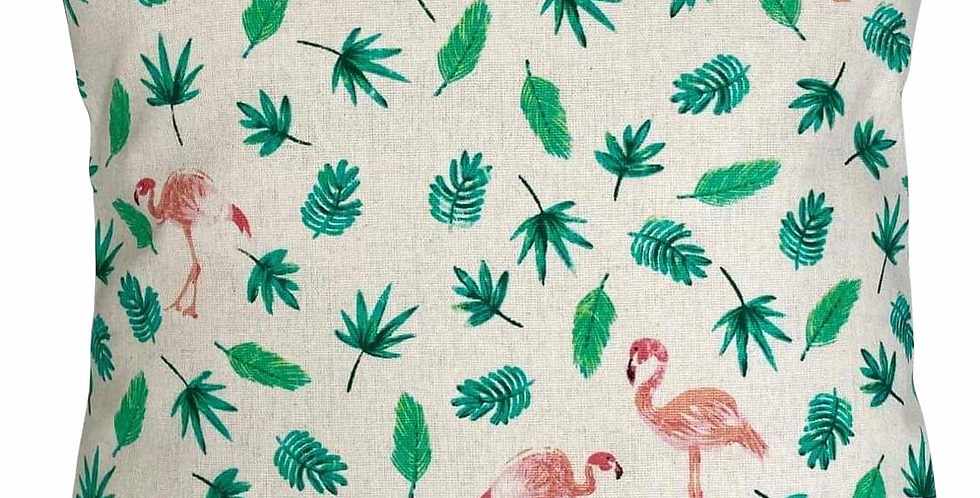Flamingos cushion cover -  Cannabis leaves cushion cover - Palm leaves