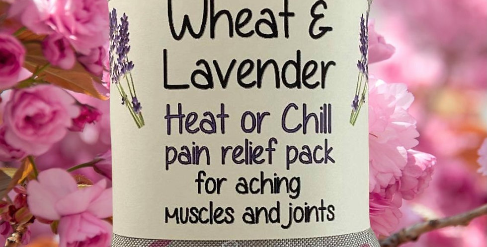 Wheat and Lavender bag - Heat pack/Chill pack - Healing, Pain relief, Flamingos