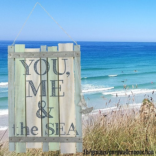 YOU, ME & the SEA - Hanging sign - wooden