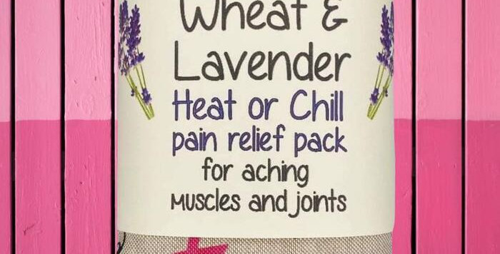 Wheat and Lavender bag - Boobies - Heat/Chill pack - Breast cancer ribbons