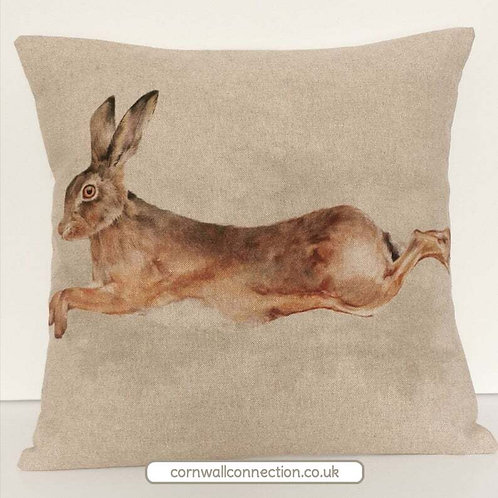 Giant HARE cushion cover - Countryside cushion cover - Wildlife