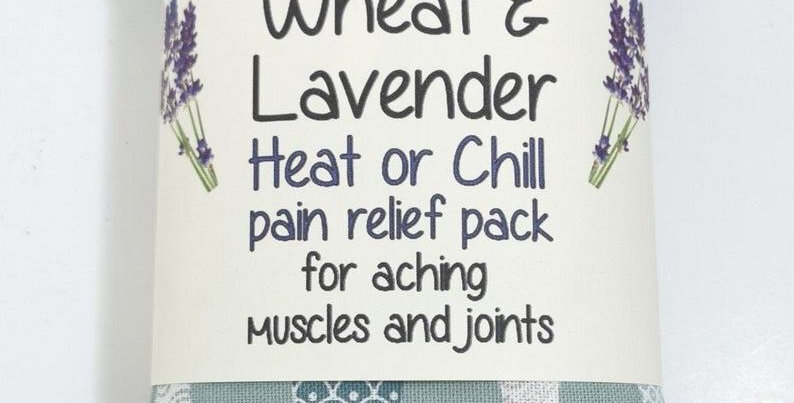 Wheat & Lavender bag - Heat or Chill pack, Healing, Pain relief, Seafoam Fishe
