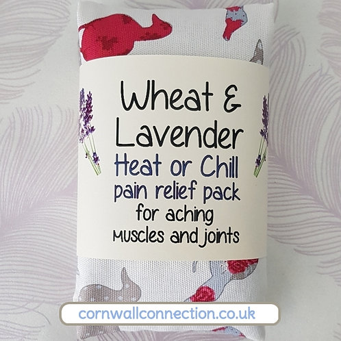 Wheat & Lavender bag - Heat pack/Chill pack - Healing, Pain relief -DUCKS