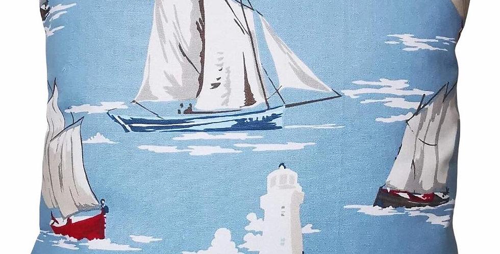 Sailing boats cushion cover
