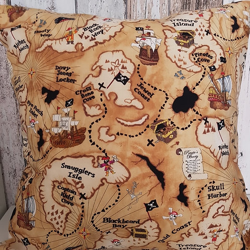 Pirate Treasure Map cushion cover