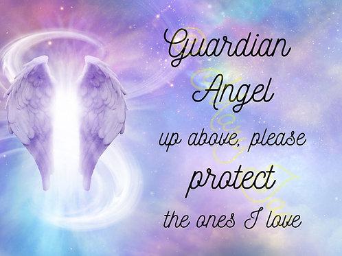 """Guardian Angel up above image - Digital file download - 10"""" x 8"""""""