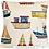 Thumbnail: Boats cushion cover - Fishing boats cushion cover - Coastal - Nautical - Seaside