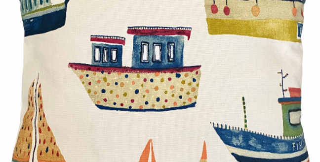 Boats cushion cover - Fishing boats cushion cover - Coastal - Nautical - Seaside
