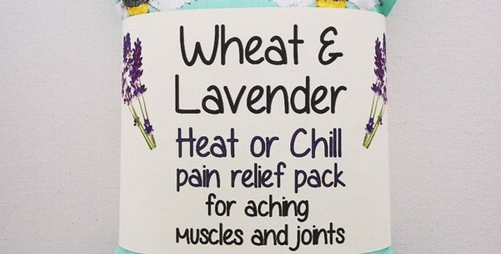 Wheat and Lavender bag - Heat/Chill pack - Healing Pain relief - Mint Bees