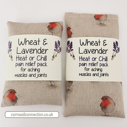 Wheat & Lavender Heat/Chill pack - Healing Pain relief - Robins - 2 sizes