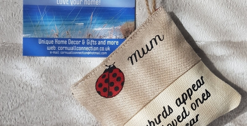Scented Lavender Pouch - Ladybirds appear when loved ones are near - Car or home