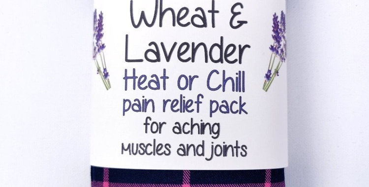 Wheat &Lavender bag - Heat pack/Chill pack - Healing, Pain relief - Navy/Pink
