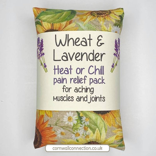 Wheat and Lavender bag - Heat pack/Chill pack - Healing, Pain relief, Sunflowers