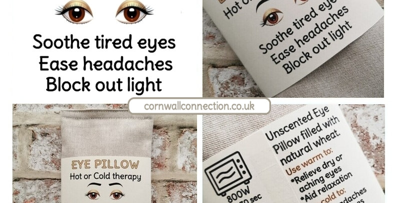 Eye pillow - Wheat filled - Unscented - Soothes tired eyes - Eases headaches