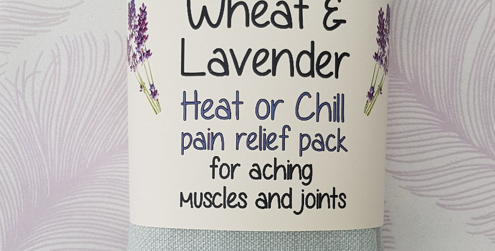 Wheat and Lavender bag - Heat pack/Chill pack - Healing, Pain relief - Dragonfly