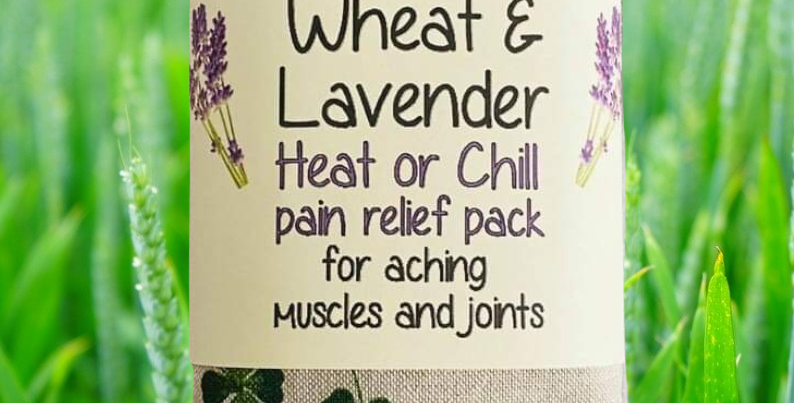 Wheat and Lavender bag - Heat/Chill pack - Healing, Pain relief, 4 Leaf Clover