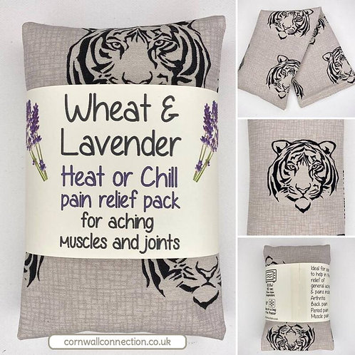 Wheat & Lavender bag -Heat pack/Chill pack, Healing, Pain relief- Tigers