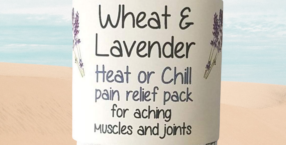Wheat and Lavender bag - Heat pack/Chill pack - Healing, Pain relief -Beach huts