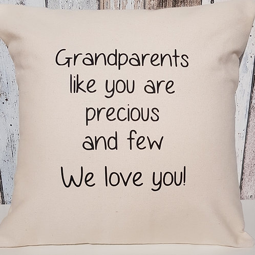GRANDPARENTS cushion with insert - NATURAL or GREY