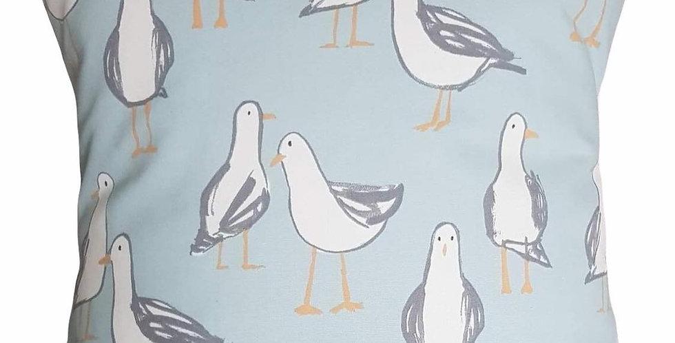 GULLS cushion cover - 2 colours - Duck egg blue or Natural - Seagulls