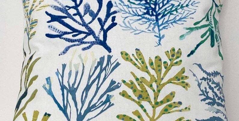 Seaweed cushion cover - sealife - nautical - coastal - beach -seaside