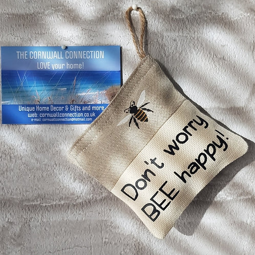 Scented Lavender Pouch - Don't worry BEE happy - Car, room, drawer fragrance