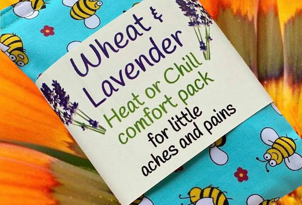 Wheat and Lavender Heat or Chill pack - BEES - Small