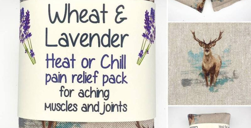 Wheat & Lavender bag -Heat pack/Chill pack, Healing, Pain relief - Stags - Teal