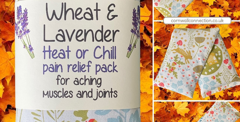 Wheat & Lavender Heat/Chill pack. Healing, Pain relief. Owl - Hare -Hedgehog