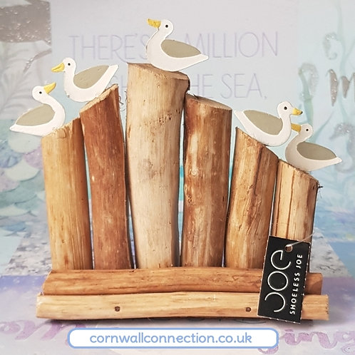 5 Gulls on groynes