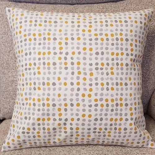 Ochre Grey Cushion cover - Scandi - Dots - Retro