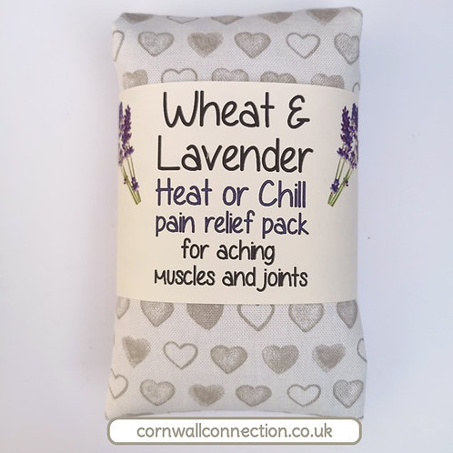 Wheat & Lavender bag - Heat or Chill pack, Healing, Pain relief, HEARTS