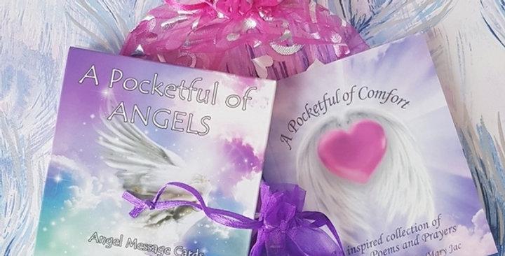A Pocketful of Angels Message Cards + Pocketful of Comfort + Rose Quartz Crystal
