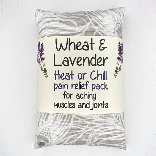 Wheat & Lavender bag -Heat pack/Chill pack, Healing, Pain relief- White Feathers