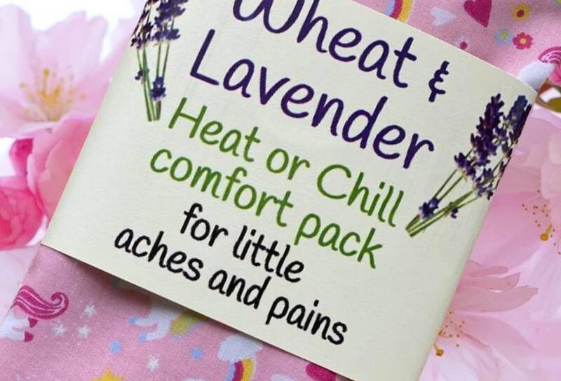 Wheat and Lavender Heat or Chill pack - Unicorns - Small