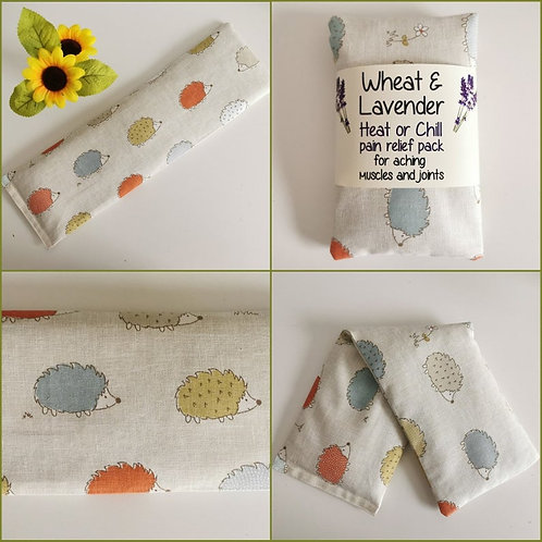 Wheat & Lavender bag - Heat or Chill pack, Healing, Pain relief, Hedgehog multi