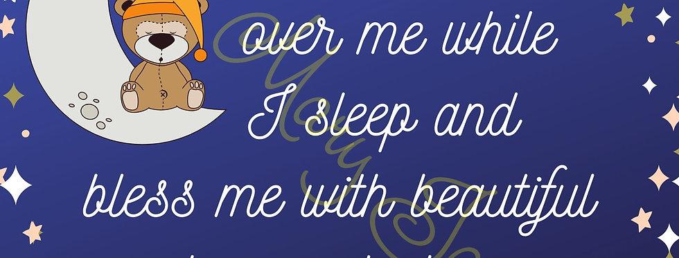 "Please watch over me while I sleep - Digital file download - 10"" x 8"" - JPG"