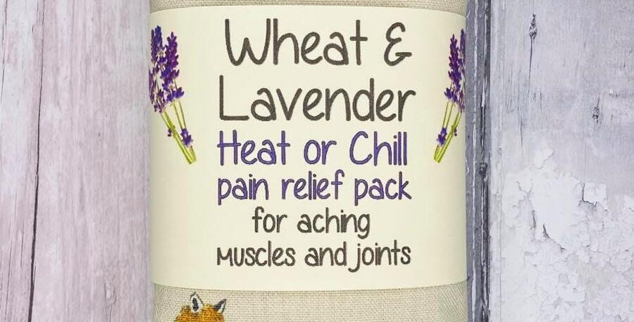 Wheat and Lavender bag - Heat pack/Chill pack - Healing, Pain relief, FOXES