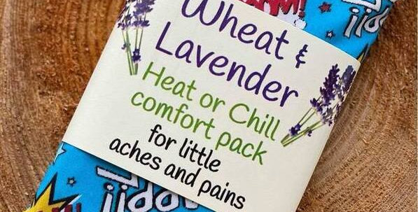Wheat and Lavender Heat or Chill pack - Superhero - Small