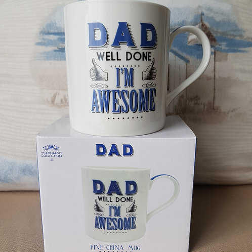 Dad mug - boxed - DAD Well done I'm awesome - Fathers day